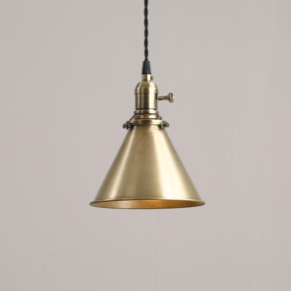 画像2: ペンダントライト ランプシェード シェードのみ ブラスシェード 真鍮 ゴールド LED E26 照明 電球灯具別売