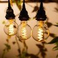 画像6: 【新商品】LED電球 E26 フィラメント電球 スパイラル ボール形 4W 230lm 濃い電球色(2100K) 白熱電球20W-30W相当 クリアタイプ 1年保証 (6)
