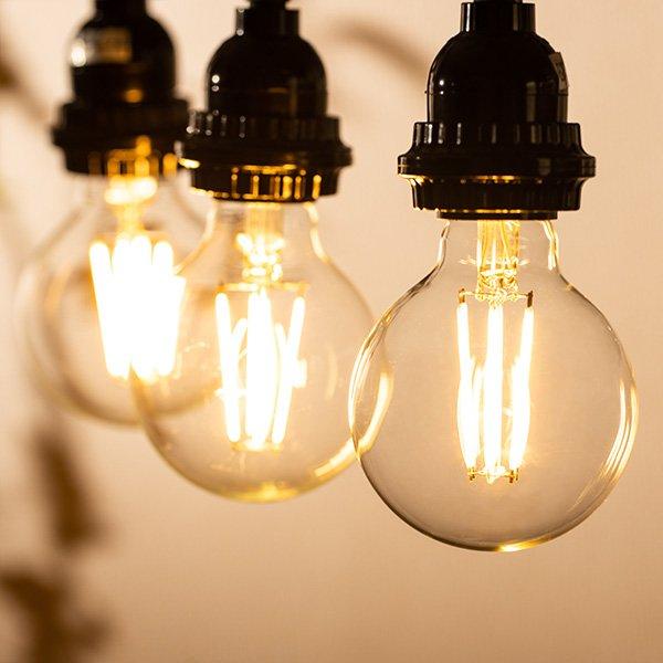 画像3: LED電球 E26 フィラメント電球 エジソン電球 エジソン球 ボール形 6W 810lm 電球色(2700K) 白熱電球60W相当 クリアタイプ 1年保証