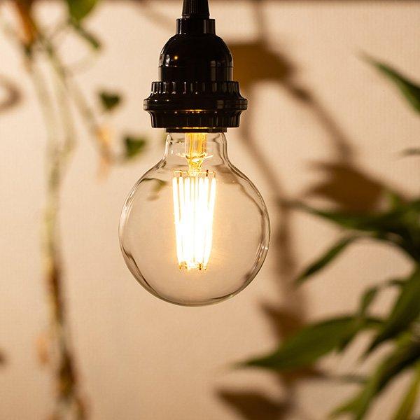 画像4: LED電球 E26 フィラメント電球 エジソン電球 エジソン球 ボール形 6W 810lm 電球色(2700K) 白熱電球60W相当 クリアタイプ 1年保証