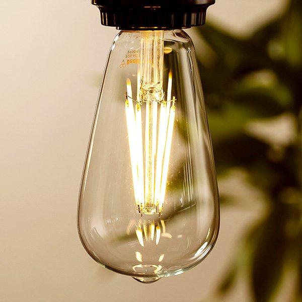 画像3: LED電球 E26 エジソン電球 エジソン球 6W 電球色2700K クリアタイプ 60W相当 1年保証