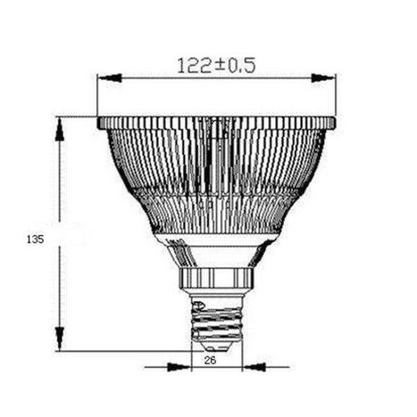 画像4: LED電球 E26 18W 高演色Ra94 ビーム電球150W相当 業務用 精肉・鮮魚用 2年保証