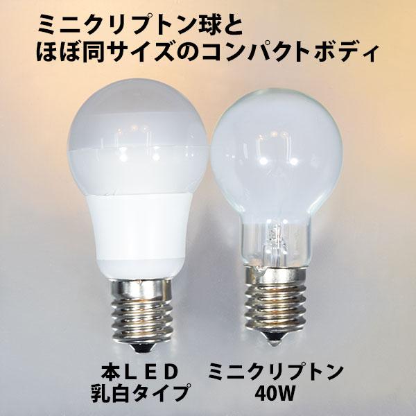 ミニクリプトン40W電球との比較