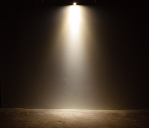 BeeLIGHTのLED電球「BH-0711NC-BK-WW-Ra96」の商品画像。実際の配光写真。