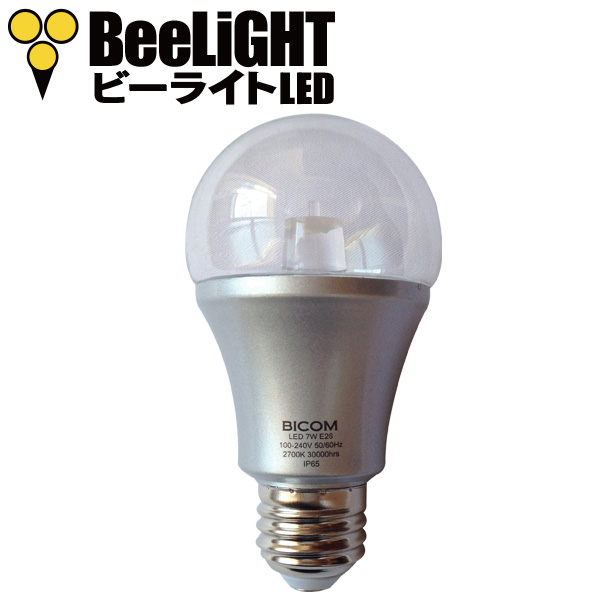 BeeLIGHTのLED電球「BD-0726-IP65 Clear-WW」の商品画像。