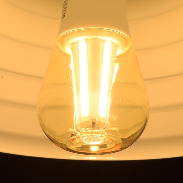BeeLIGHTのLED電球「BD-1026C-Clear-Retro」の商品画像。実際の点灯イメージ。
