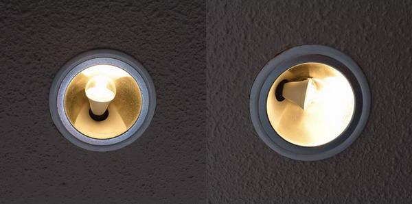 BeeLIGHTのLED電球「BD-0417MC」の実際の照明器具点灯写真例。