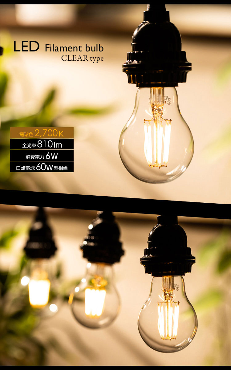 LED電球「BD-0626」の商品画像。